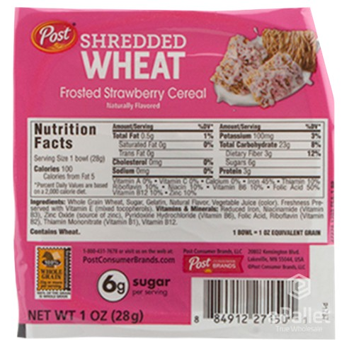 POST Strawberry Shredded Wheat Cereal