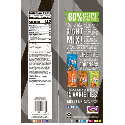 Chex Mix Chex Snack Mix 8.75 oz Bold