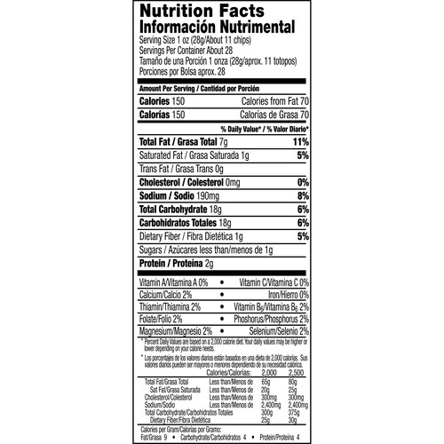 Salsa Verde Corn Tortilla Chips 27.5 oz