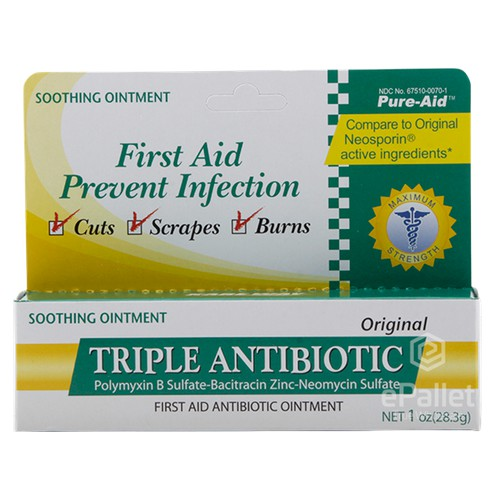 PURE-AID Triple Antibiotic, Original 1 0 oz  - 24/1 oz | ePallet