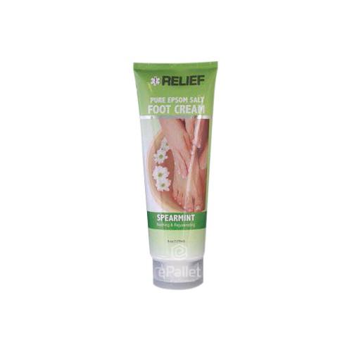 RELIEF Pure Epsom Salt Foot Cream - 12/6 oz | ePallet