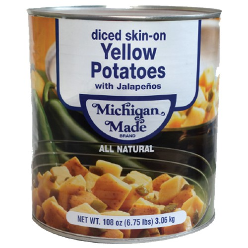 MICHIGAN MADE Diced, Skin-On Yellow Potatoes - 6/108 oz
