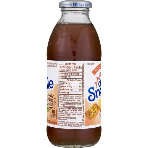Snapple Juice Drink Diet Peach Tea